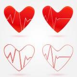 De reeks harten slaat grafiek vectorpictogrammen stock illustratie