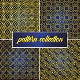 De reeks of de inzameling van naadloze en abstracte patroonachtergrond in Arabische stijl, kan voor het ramadan kareem en eid ond royalty-vrije illustratie