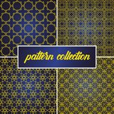 De reeks of de inzameling van naadloze en abstracte patroonachtergrond in Arabische stijl, kan voor het ramadan kareem en eid ond stock illustratie