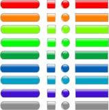 De reeks kleurde lege Webknoop royalty-vrije illustratie