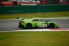 De Reeks Lamborghini die Huracà ¡ n van Blancpaingt in Monza rennen Stock Foto