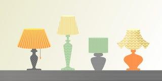 De reeks lampen Royalty-vrije Stock Foto's