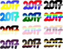 de reeks nr van 2017 2 van nieuw jaar Stock Afbeelding