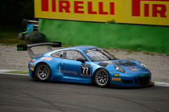 De Reeks Porsche 911 van Blancpaingt GT3 R die in Monza rennen Stock Foto's