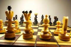 De reeks schaakstukken stock afbeeldingen
