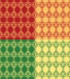 De reeks van 4 vector naadloos root Stock Fotografie