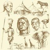 De reeks van Afrika Royalty-vrije Stock Afbeeldingen