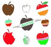De reeks van appel Royalty-vrije Stock Afbeeldingen