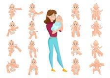 De Reeks van de babymassage vector illustratie