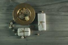 De reeks van de badkamerswas royalty-vrije stock afbeeldingen