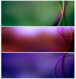 De reeks van banners van abstract metaal Royalty-vrije Stock Foto