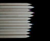 De reeks van beautifulcolored potloden Stock Fotografie