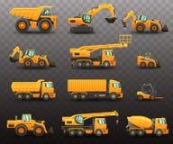 De reeks van bouwmachines stock fotografie