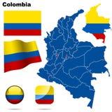 De reeks van Colombia. Stock Foto's