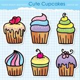 De reeks van Cupcakes Royalty-vrije Stock Afbeelding