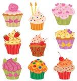 De Reeks van Cupcakes Stock Afbeelding