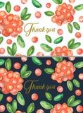 De reeks van 2 dankt u kaarten Stock Afbeelding