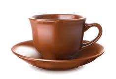 De reeks van de aardewerkkoffie Stock Afbeelding