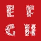 De Reeks van de alfabetsneeuw. Kerstmis en Nieuwjaar abc. Royalty-vrije Stock Afbeeldingen