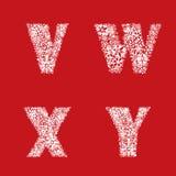 De Reeks van de alfabetsneeuw. Kerstmis en Nieuwjaar abc. Royalty-vrije Stock Fotografie