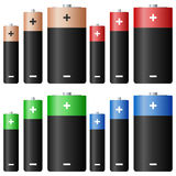 De Reeks van de alkalische Batterij Stock Afbeelding