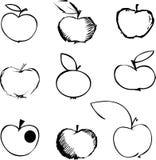 De reeks van de appel Stock Afbeeldingen