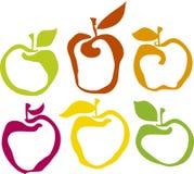 De reeks van de appel Royalty-vrije Stock Fotografie