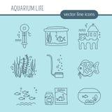 De reeks van de aquariumzorg Stock Foto's