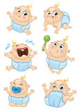 De reeks van de babyjongen Royalty-vrije Stock Afbeelding