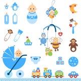 De reeks van de babyjongen Stock Foto's