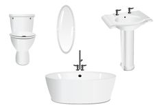 De reeks van de badkamers Stock Fotografie