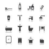 De reeks van de badruimte Stock Afbeelding