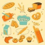 De reeks van de bakkerij Royalty-vrije Stock Afbeelding