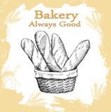 De reeks van de bakkerij Royalty-vrije Stock Foto