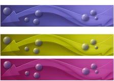 De reeks van de banner Stock Fotografie