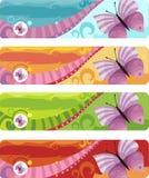 De reeks van de banner Stock Afbeelding