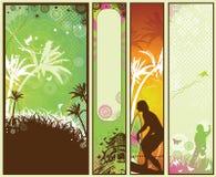 De Reeks van de Banner van de Stijl van de zomer Royalty-vrije Stock Fotografie