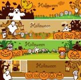 De Reeks van de Banner van de Vakantie van Halloween Stock Afbeeldingen