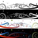 De Reeks van de Banner van de Viering van de werveling Stock Foto's