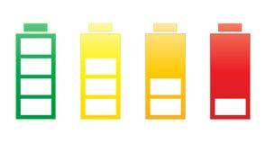 De reeks van de batterij Stock Afbeeldingen