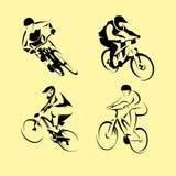 De reeks van de bergfiets Stock Afbeeldingen