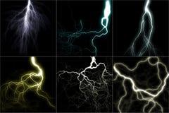 De reeks van de bliksem vector illustratie