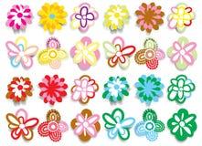 De reeks van de bloem stock illustratie