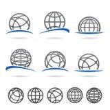De reeks van de bol Vector stock illustratie