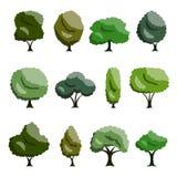 De reeks van de boom Royalty-vrije Stock Afbeeldingen