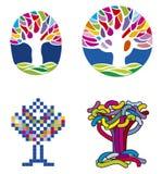 De reeks van de boom vector illustratie