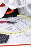De Reeks van de bouw (Tekeningen 1) Stock Foto