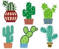 De reeks van de cactus Stock Fotografie