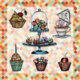 De reeks van de cake Royalty-vrije Stock Afbeelding