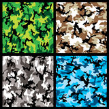 De reeks van de camouflage Stock Fotografie